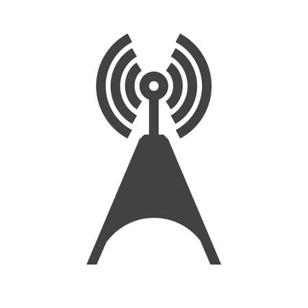 cellphone icon: Signals, telecom, tower, technology icon vector image. Can also be used for communication, connection, technology. Suitable for web apps, mobile apps and print media. Illustration