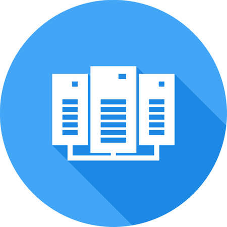 hard drive: Data, center, network, server icon vector image. Can also be used for communication, connection, technology. Suitable for web apps, mobile apps and print media.