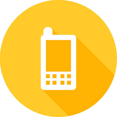 mobile device: Mobile, mobile phone, device icon vector image. Can also be used for communication, connection, technology. Suitable for web apps, mobile apps and print media. Illustration