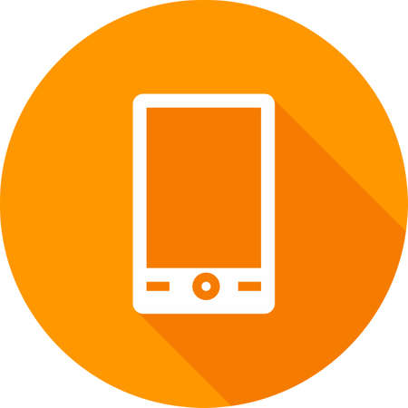 mobile device: Mobile, mobile phone, smart device icon vector image. Can also be used for communication, connection, technology. Suitable for web apps, mobile apps and print media.