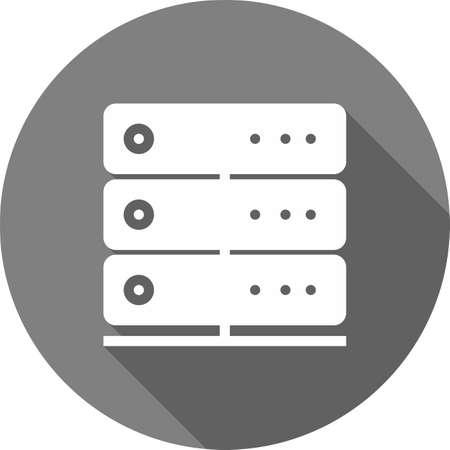 Server, lien, système, image vectorielle icône informations. Peut aussi être utilisé pour la communication, connexion, technologie. Convient pour les applications Web, des applications mobiles et les médias d'impression. Banque d'images - 38824744