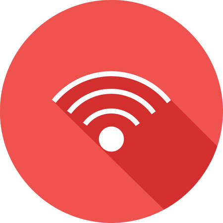 wireless connection: Wi-Fi, wireless, signals, connectivity icon vector image. Can also be used for communication, connection, technology. Suitable for web apps, mobile apps and print media.