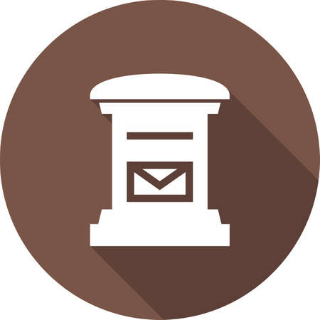 letterbox: Letterbox, post box, post, postal service icon vector image. Can also be used for communication, connection, technology. Suitable for web apps, mobile apps and print media.