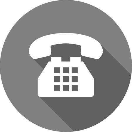 Telephone, analog set, device icon vector image. Can also be used for communication, connection, technology. Suitable for web apps, mobile apps and print media. 向量圖像