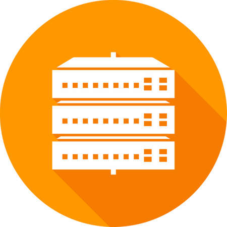 Network switch, server, switch, port icon vector image. Can also be used for communication, connection, technology. Suitable for web apps, mobile apps and print media. 矢量图像