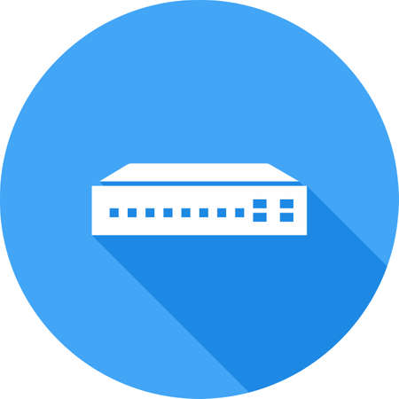 Networking switch, network, router icon vector image. Can also be used for communication, connection, technology. Suitable for web apps, mobile apps and print media. 向量圖像