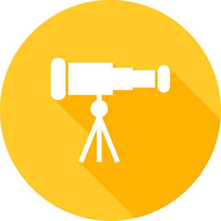Telescoop, verrekijker, optisch instrument pictogram vector afbeelding. Kan ook worden gebruikt voor communicatie, verbinding technologie. Geschikt voor web apps, mobiele apps en gedrukte media.