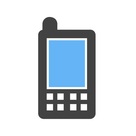Mobile, mobile phone, device icon vector image. Can also be used for communication, connection, technology. Suitable for web apps, mobile apps and print media. Stock fotó - 38903306
