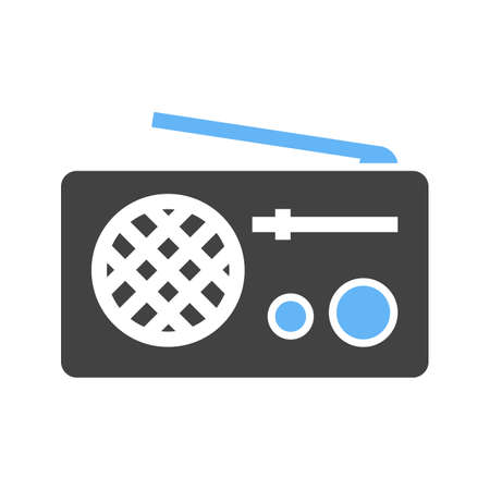 receiver: Radio, antenna, equipment icon vector image. Can also be used for communication, connection, technology. Suitable for web apps, mobile apps and print media.