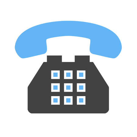 dial pad: Telephone, analog set, device icon vector image. Can also be used for communication, connection, technology. Suitable for web apps, mobile apps and print media. Illustration