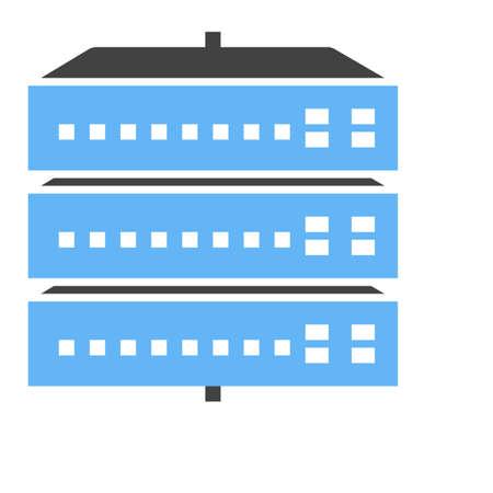 Netwerk switch, server, switch, pictogram vector afbeelding poort. Kan ook worden gebruikt voor communicatie, verbinding technologie. Geschikt voor web apps, mobiele apps en gedrukte media. Stock Illustratie