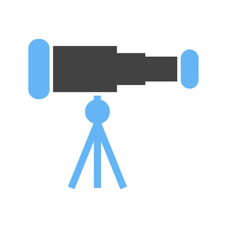 optical image: Telescope, binoculars, optical instrument icon vector image. Can also be used for communication, connection, technology. Suitable for web apps, mobile apps and print media.