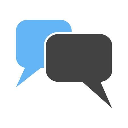 メッセージ、チャット、泡、テキスト アイコン ベクトル イメージ。通信、接続、技術の使用もできます。Web アプリ、携帯アプリ、印刷メディアに
