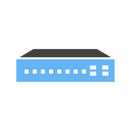 Networking switch, network, router icon vector image. Can also be used for communication, connection, technology. Suitable for web apps, mobile apps and print media. Ilustração