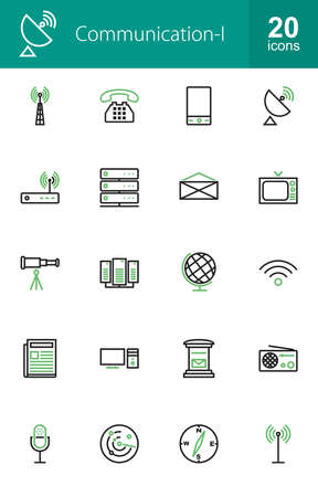 Communication technology icon vector image. Can also be used for media, network, connection. Suitable for web apps, mobile apps and print media. Illustration