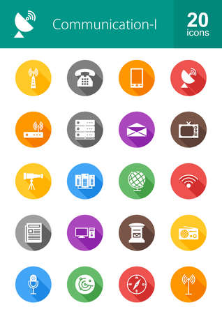 Communication technology icon vector image. Can also be used for media, network, connection. Suitable for web apps, mobile apps and print media. 일러스트