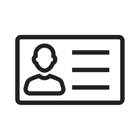 shop keeper: Identity card, information, account icon vector image. Can also be used for banking, finance, business. Suitable for web apps, mobile apps and print media. Illustration