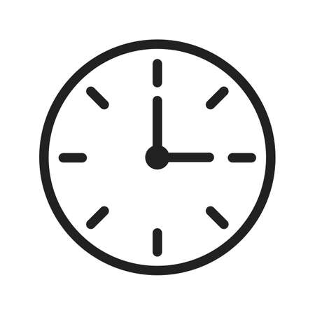 Clock, watch, time icon vector image. Can also be used for banking, finance, business. Suitable for web apps, mobile apps and print media.