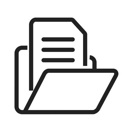 categorize: File, folder, document icon vector image. Can also be used for banking, finance, business. Suitable for web apps, mobile apps and print media.