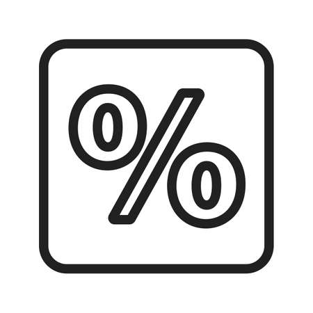 banking and finance: Percentage, portion, fraction icon vector image. Can also be used for banking, finance, business. Suitable for web apps, mobile apps and print media.