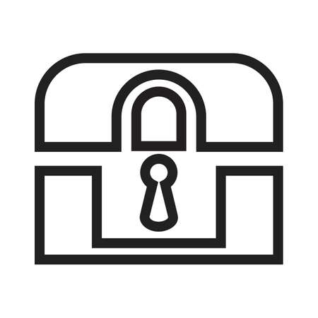limited access: Lock, box, safe, locker icon vector image. Can also be used for banking, finance, business. Suitable for web apps, mobile apps and print media.