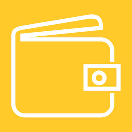 pouch: Wallet, purse, money bag icon vector image. Can also be used for banking, finance, business. Suitable for web apps, mobile apps and print media.