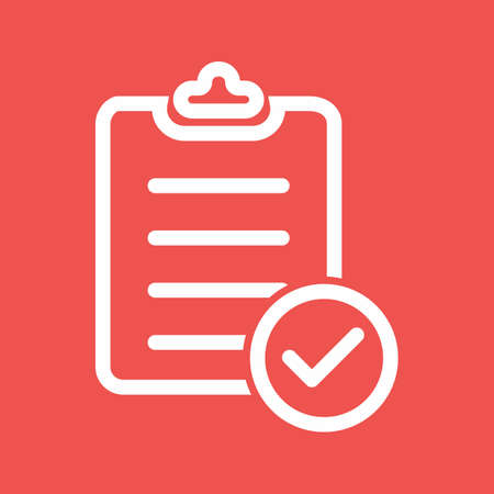 bank records: Checklist, items, clipboard icon vector image. Can also be used for banking, finance, business. Suitable for web apps, mobile apps and print media.