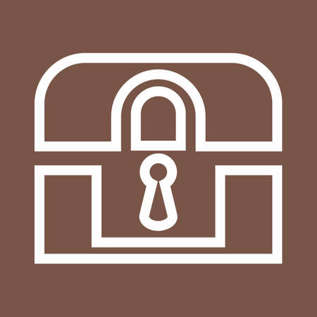 secret code: Lock, box, safe, locker icon vector image. Can also be used for banking, finance, business. Suitable for web apps, mobile apps and print media.