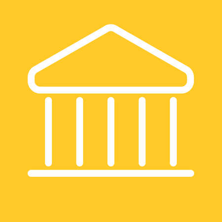 Building, bank, institution icon vector image. Can also be used for banking, finance, business. Suitable for web apps, mobile apps and print media. Ilustração