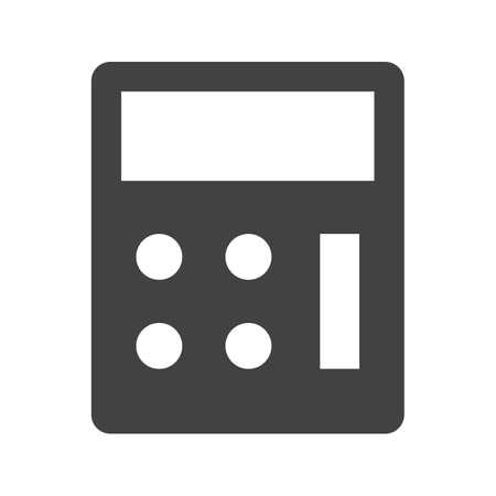 Calculator, wiskunde, apparaat pictogram vector afbeelding. Kan ook worden gebruikt voor het bankwezen, financiën, business. Geschikt voor web apps, mobiele apps en gedrukte media.