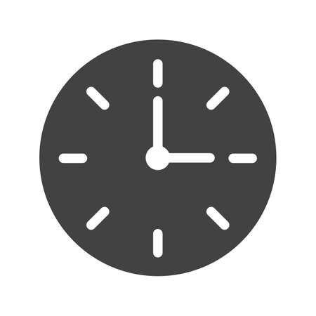 timing: Clock, watch, time icon vector image. Can also be used for banking, finance, business. Suitable for web apps, mobile apps and print media.