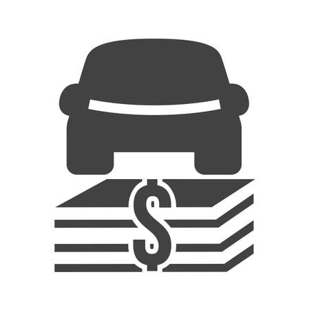 Car, vehicle, dollar, currency icon vector image. Can also be used for banking, finance, business. Suitable for web apps, mobile apps and print media.