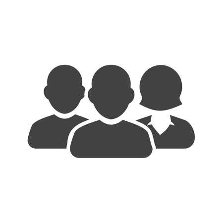 팀, 사람들, 사용자 아이콘 벡터 이미지입니다. 금융, 금융, 비즈니스에도 사용할 수 있습니다. 웹 앱, 모바일 앱 및 인쇄 매체에 적합합니다. 일러스트