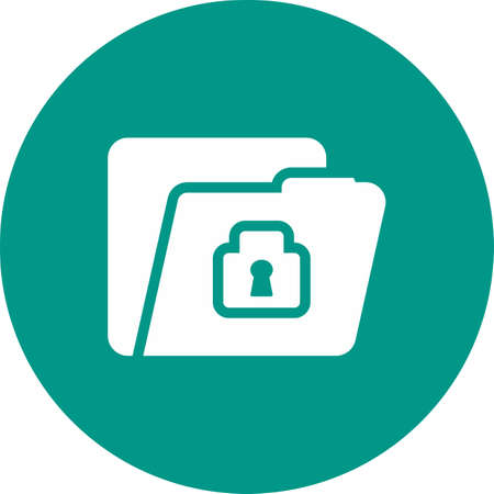 locked: Locked file, folder, confidential icon vector image. Can also be used for banking, finance, business. Suitable for web apps, mobile apps and print media. Illustration