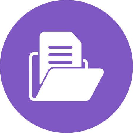 ファイル、フォルダー、ドキュメントのアイコン ベクトル画像。銀行、金融、ビジネスの使用もできます。Web アプリ、携帯アプリ、印刷メディアに  イラスト・ベクター素材