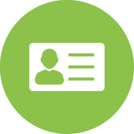Id カード、情報、アカウント アイコン ベクトル画像。銀行、金融、ビジネスの使用もできます。Web アプリ、携帯アプリ、印刷メディアに適してい