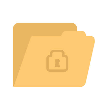 limited access: Locked file icon Illustration