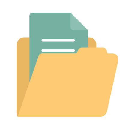 account statements: File, folder or document icon Illustration