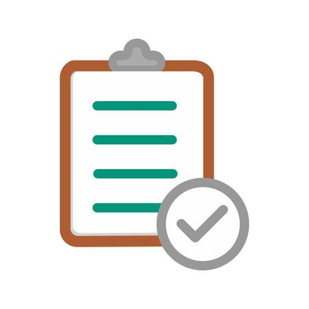 Checklist klembord Stock Illustratie