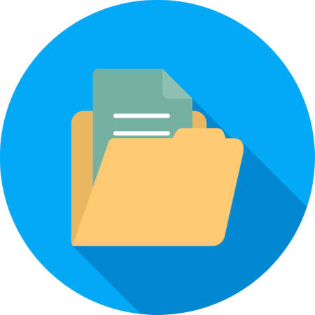 File, folder, document icon vector image. Can also be used for banking, finance, business. Suitable for web apps, mobile apps and print media.
