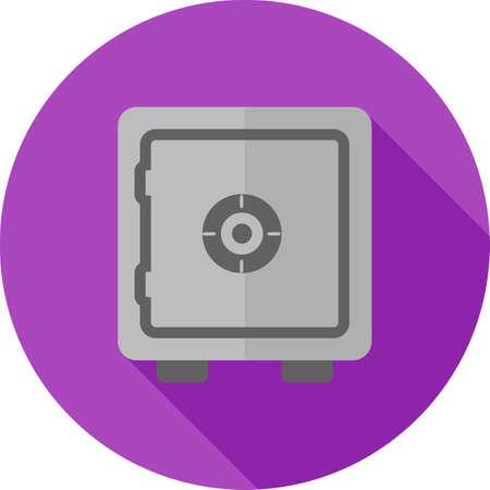 caja fuerte: Lock, b�veda, imagen del vector seguro, icono armario. Tambi�n se puede utilizar para la banca, las finanzas, los negocios. Adecuado para aplicaciones web, aplicaciones m�viles y los medios impresos. Vectores