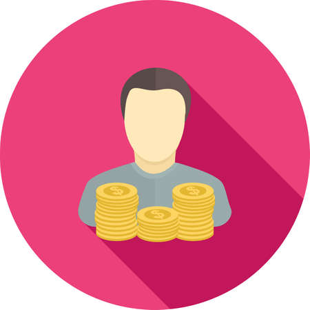 coins and man icon