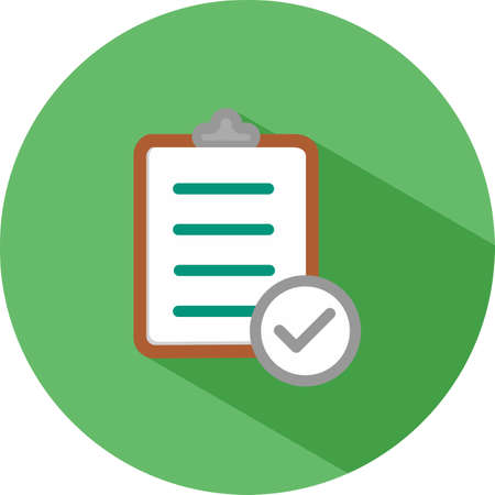 bank records: Checklist clipboard icon Illustration