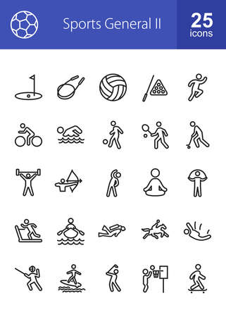 Sports, Health Activities, Fitness Icon Vector