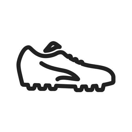cleats: Football shoe icon Illustration
