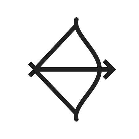 longbow: Archery with arrow icon
