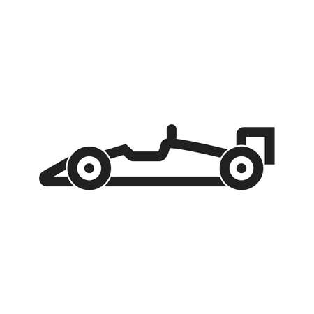 racer flag: racing car icon