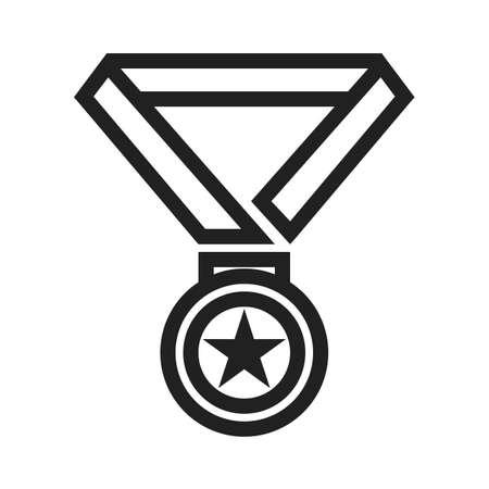 Medaille icoon Stock Illustratie