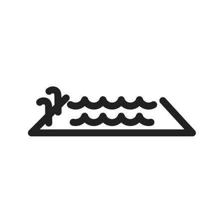 Swimming pool icon Ilustracja