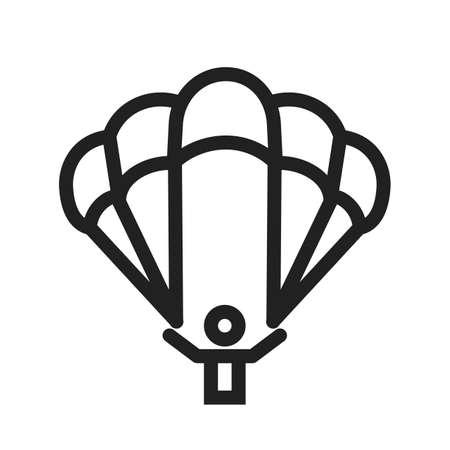 deceleration: parachute icon Illustration